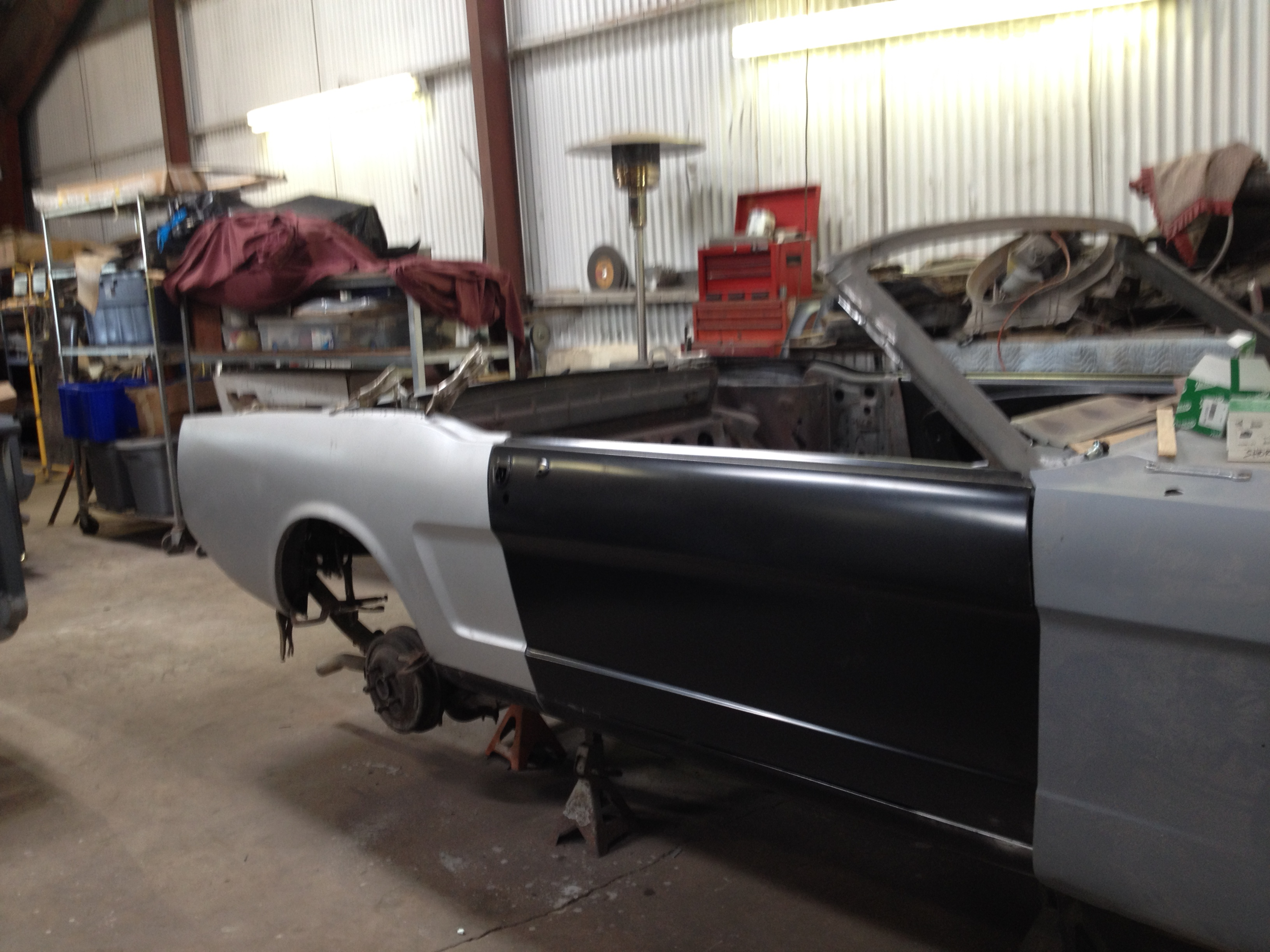 Classic Ford Mustang Convertible restoration